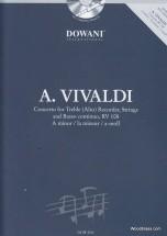 Vivaldi A. - Concerto Rv 108 - Flute A Bec Alto, Cordes, Bc