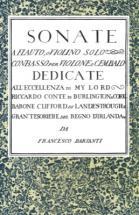 Barsanti (vi) Sonate A Flauto O Violino Solo E Basso