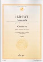 Haendel G.f. - Passacaglia G Minor / Chaconne D Minor - Piano