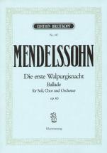 Mendelssohn Bartholdy F. - Die Erste Walpurgisnacht Op.60 - Chant, Choeur, Piano