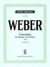Weber C.m.v. - Concertino Mi B Majeur Op. 26 - Clarinette, Piano