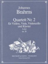 Brahms J. - Quatuor Avec Piano Op. 26 En La Majeur
