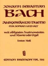 Bach Johann Sebastian - Ausgew. Duette Sopran Und Alt 1 - Soprano, Alto, Instruments, Piano