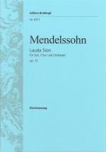 Mendelssohn-bartholdy F. - Lauda Sion Op. 73 - Piano