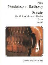 Mendelssohn-bartholdy F. - Sonate D-dur Op. 58 - Cello, Piano