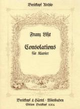 Liszt Franz - Consolations. Reprint - Piano
