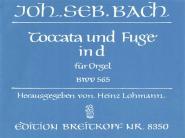 Bach Johann Sebastian - Toccata Und Fuge D-moll Bwv565 - Organ
