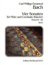 Bach C.p.e. - Vier Sonaten, Heft 1 Wq 83,84 - Flute, Clavecin