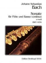 Bach J.s. - Sonate E-moll Bwv 1034 - Flute, Basse Continue