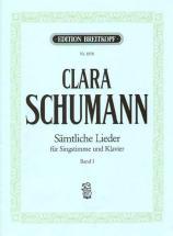 Schumann C. - Integrale Des Lieder Voix & Piano Vol.1