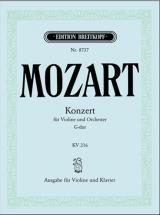 Mozart W.a. - Concerto Pour Violon En Sol Majeur Kv 216 - Violon, Piano