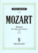 Mozart W.a. - Concerto Pour Violon En La Majeur Kv 219 - Violon, Piano