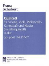 Schubert Franz - Quintett A-dur D 667(forellen) - Piano Quintet