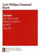 Bach Carl Philipp Emanuel - Sonate G-moll Wotq 135 - Oboe, Basso Continuo