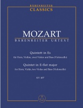 Mozart W.a. - Quintet Es-dur Kv 407 (386c) - Score