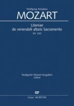 Mozart W.a. - Litaniae De Venerabili Altaris Sacramento Kv 243 - Reduction Piano
