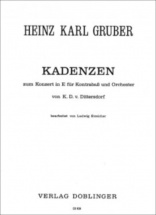 Gruber Heinz-karl - Kadenzen Zum Konzert In E Von Dittersdorf