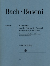 Bach J.s. / Busoni F. - Chaconne From Partita N°2 D Minor - Piano