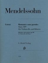 Mendelssohn F. - Romance Sans Paroles Op.109 - Violoncelle and Piano