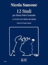 Sansone Nicola - 12 Studies For Treble Recorder