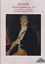 Brahms J. - Clarinet Quintet Op. 115 - Clarinette Et Piano