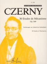 Czerny Carl - Etudes De Mécanisme (30) Op.849 - Piano