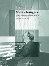 Vierne Louis - Soirs Etrangers Op.56 - Violoncelle, Piano