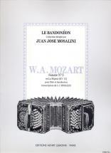 Mozart W.a. - Sonate N° 3 En La Maj. Kv 12 - Flute, Bandoneon