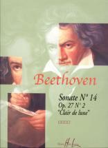Beethoven Ludwig Van - Sonate N°14 Op.27 N°2 Clair De Lune - Piano