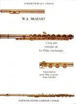 Mozart W.a. - Airs Extraits De La Flute Enchantee (5) - Flute, Piano