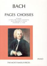 Bach J.s. - Pages Choisies - Piano