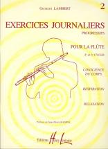 Lambert Georges - Exercices Journaliers Vol.2 - Flute