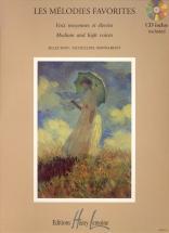 Bonnardot Jacqueline - Mélodies Favorites + Cd - Voix Elevee Ou Moyenne, Piano