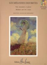 Bonnardot Jacqueline - Mélodies Favorites + Cd - Voix Moyenne Ou Grave, Piano