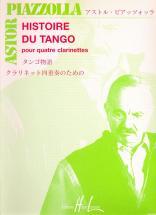 Piazzolla Astor - Histoire Du Tango - 4 Clarinettes