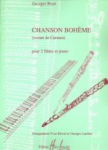 Bizet Georges - Chanson Boheme - 2 Flutes, Piano