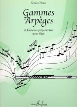 Hunt Simon - Gammes, Arpèges Et Exercices Préparatoires - Flute