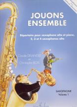 Delangle C./ Bois C. - Jouons Ensemble Vol.1 - 2, 3 Ou 4 Saxophones