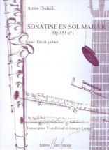 Diabelli Anton - Sonatine Op.151 N°1 - Flute, Guitare