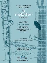 Donizetti Gaetano - Mélodies (3) - Flute Ou Clarinette, Guitare