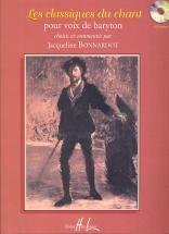Bonnardot Jacqueline - Les Classiques Du Chant + Cd - Baryton, Piano