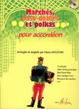 Maugain Manu - Marches, Paso-dobles Et Polkas + Cd - Accordéon
