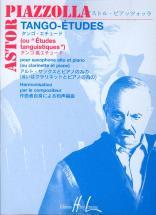 Piazzolla Astor - Tango - Etudes (6) - Saxophone, Piano