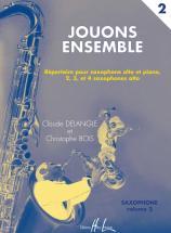 Delangle C./ Bois C. - Jouons Ensemble Vol.2 - 2 A 4 Saxophones