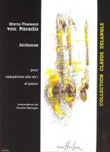 Von Paradis Maria-theresia - Sicilienne - Saxophone, Piano