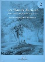 Bonnardot Jacqueline - Les Plaisirs Du Chant Vol.2 - Voix Moyenne Ou Grave, Piano