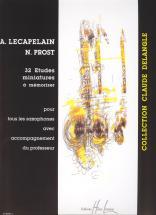 Lecapelain A. / Prost N. - Etudes Miniatures A Memoriser (32) - Saxophone