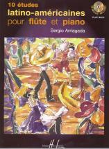 Arriagada Sergio - Etudes Latino-américaines (10) + Cd - Flute, Piano