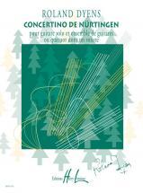 Dyens Roland - Concertino De Nürtingen - Guitare Solo, Ensemble Guitares