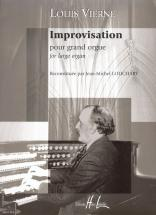 Vierne Louis - Improvisation Pour Grand Orgue